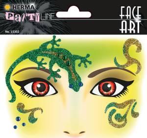 Bilde av FACE ART Sticker Gecko til ansiktet, 1 ark (5