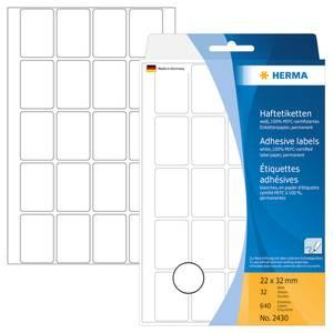 Bilde av HERMA standardetiketter, hvit 22x32 mm (640 stk)