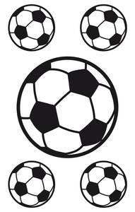 Bilde av Vindusdekor Fotballer, selvklebende folie, 5