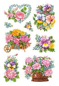Bilde av DECOR Stickers Nostalgisk blomsterdekorasjon, 3