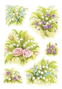 Bilde av DECOR Stickers Blomsterbukett, 3 ark (10 pakk)