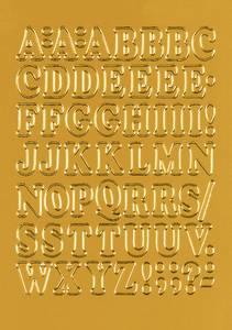 Bilde av VARIO bokstaver 12 mm, A-Z, gullfolie 1 ark (10