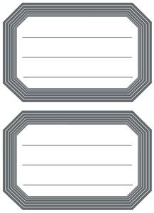 Bilde av VARIO boketiketter med svart kant, 82x55 mm, 6
