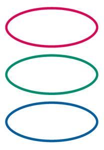 Bilde av VARIO boketiketter med sirkler, oval, 6 ark (10