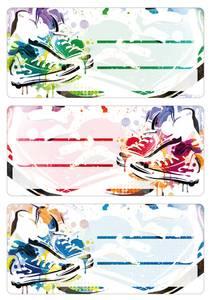 Bilde av VARIO boketiketter Graffiti sneakers, 3 ark (10