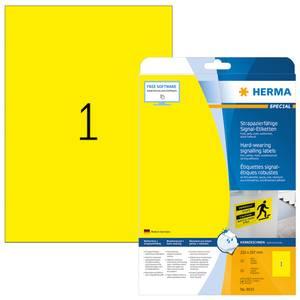 Bilde av SPECIAL slitesterke etiketter, gul, 25 ark